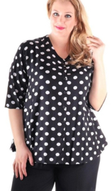 Blouse Dallas (03-4343) bwpolkadot