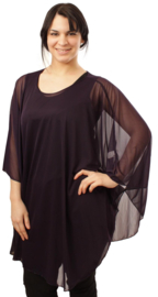 Poncho WINGS chiffon (M-04-CH) 059-Dr.Paars