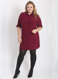 Tuniek-Blouse/knopen (C-7005) 032-Bordeaux