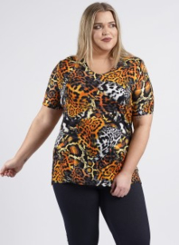 Shirt korte mouw (B-04-VISprint) A21019-Animal