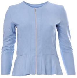 Kort jasje met schootje (K-7001-LL) 004-Hemel Blauw