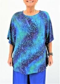 """Shirt """"JOYCE"""" (08-4388) lbluepurpkrbl"""