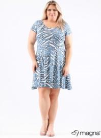 A-Lijn Tuniek (C-9028-print) 019804-2t Zebra Blauw