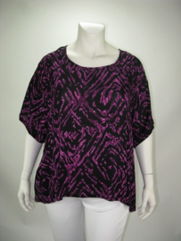 Shirt Havannah (08-3753-purpblackkras)