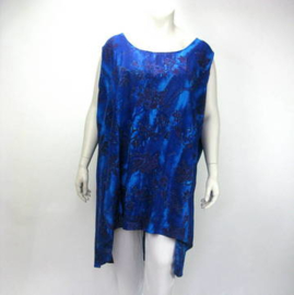 Top/Jurk Gemma (03-3298-blueblackleaf)