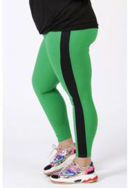 Broek met streep op zijkant been (D-9003-CRB) 058-Brazil Groen/001-zwart