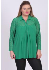 Shirt A-lijn met kant (B-8026) 058-Brazil Groen