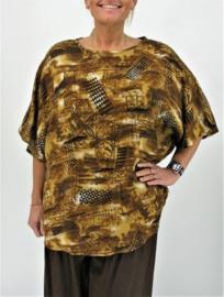 "Shirt ""JOYCE"" (04-4384) brownprint"