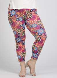 Legging Basic (F-0031-VISPR) - A60066-Orange flower