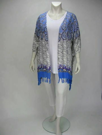 Poncho Flor (09-3265-bluewhiteisla)