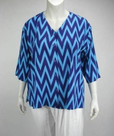 Blouse Denver (10-2404 - bluepurpzigzag)