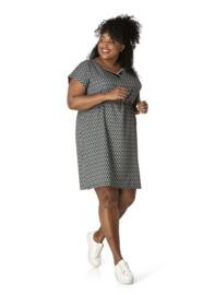 """(40156P) """"Rilee"""" Retro print zomerse jurk"""