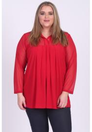 Shirt A-Lijn met Chiffon (B-8026-CHS) 015-Rood