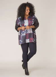 (32049P) Patchwork Shirt