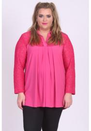 Shirt A-lijn met kant (B-8026) 006-L.Fuchsia