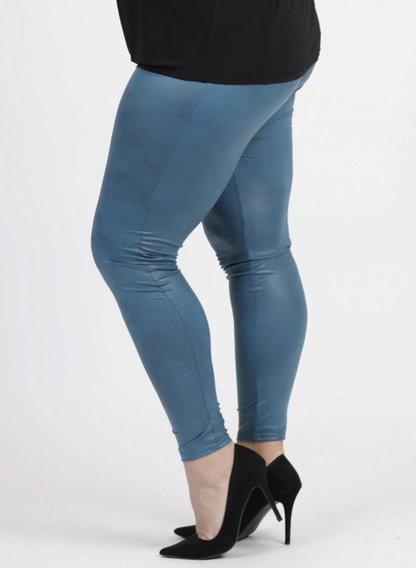 Legging Leather Look (F-23 LL) 048-Petrol