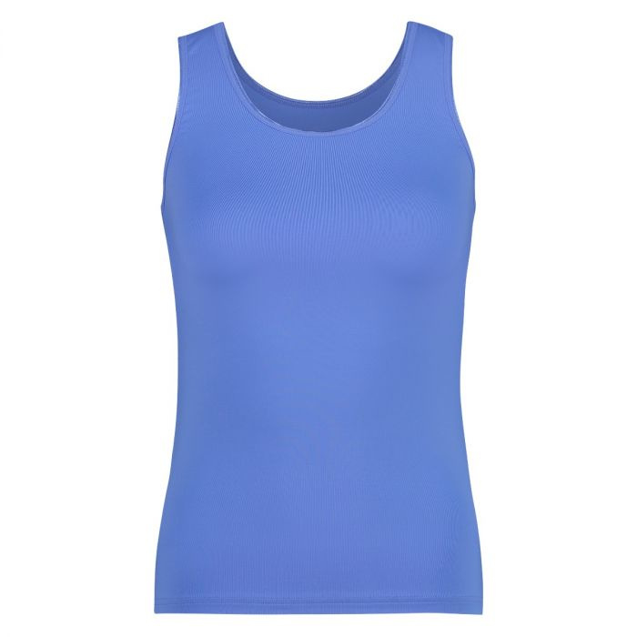 RJ pure color dames shirt  - Hemel Blauw
