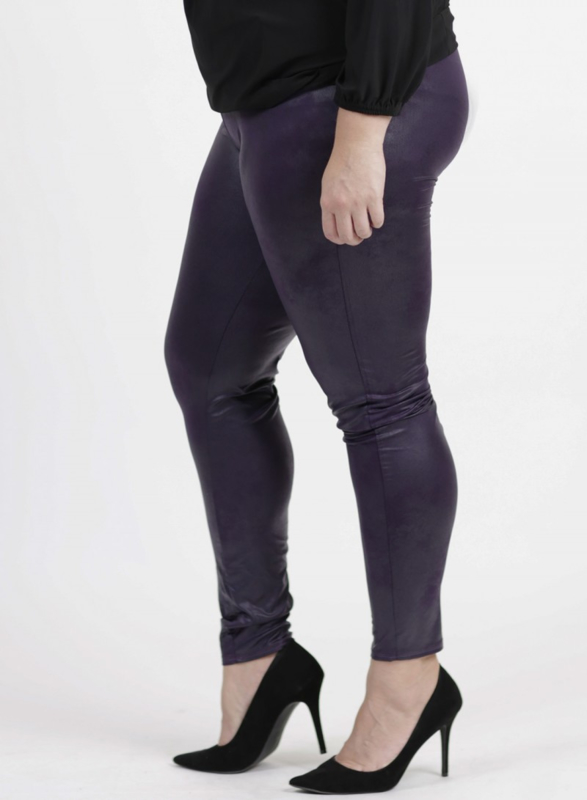 Legging Leather Look (F-23 LL) 059-Dr.Paars