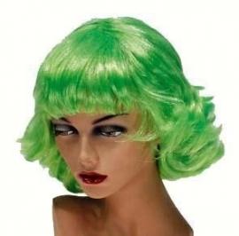 Pruik Frenchy Neon Groen