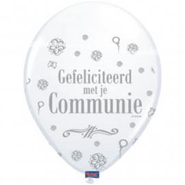"""Ballonnen """"Gefeliciteerd met je communie"""""""