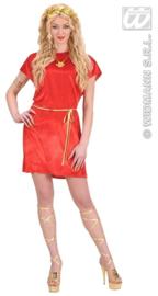 Rode tuniek romeinse dame