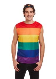 Regenboog shirt mouwloos