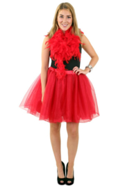 Tule rok rood deluxe