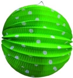 Bollampion groen met stippen 23cm