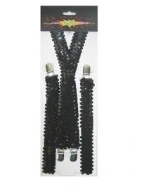 Bretels zwart pailletten
