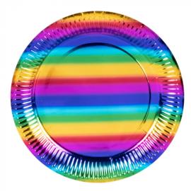 Regenboog bordjes folie
