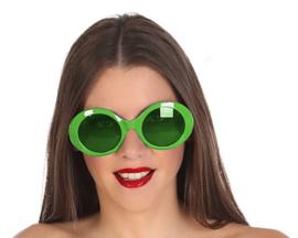 Groene disco bril dames