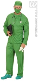 Chirurgen kostuum groen