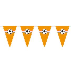 Vlaggenlijn oranje voetbal XL  10 meter
