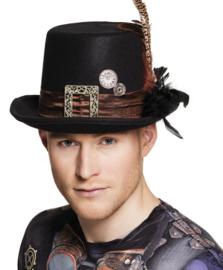 Steampunk hoed heer clock