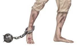 Ketting gevangene met bol