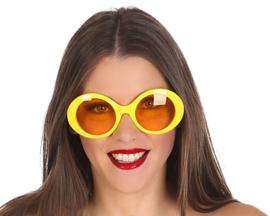 Gele disco bril dames