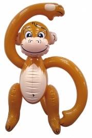 Opblaasbare aap bruin 61 cm