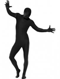 Second skin kostuum zwart