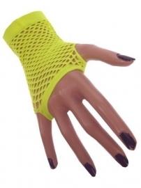 Nethandschoenen geel vingerloos