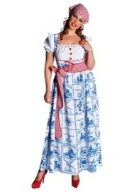 Delftsblauwe jurk