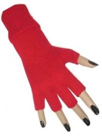 Vingerloze handschoenen rood