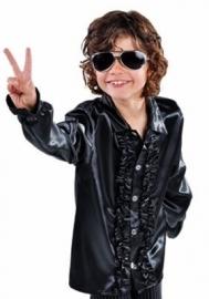 Kinder roezel blouse zwart
