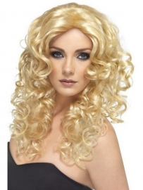 Glamour blond pruik