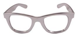 Zilvere bril modern