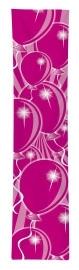 Roze ballonnen banner 300x60