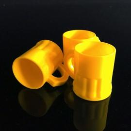 Shotglaasjes 2,5cl. geel 10 stuks