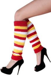 Beenwarmers rood, wit en geel