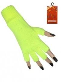 Vingerloze handschoenen Fluor Geel