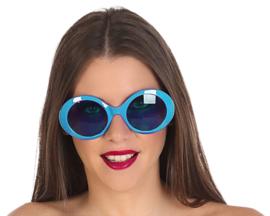 Lichtblauwe disco bril dames