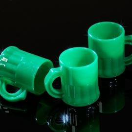 Shotglaasjes 2,5cl. groen 10 stuks